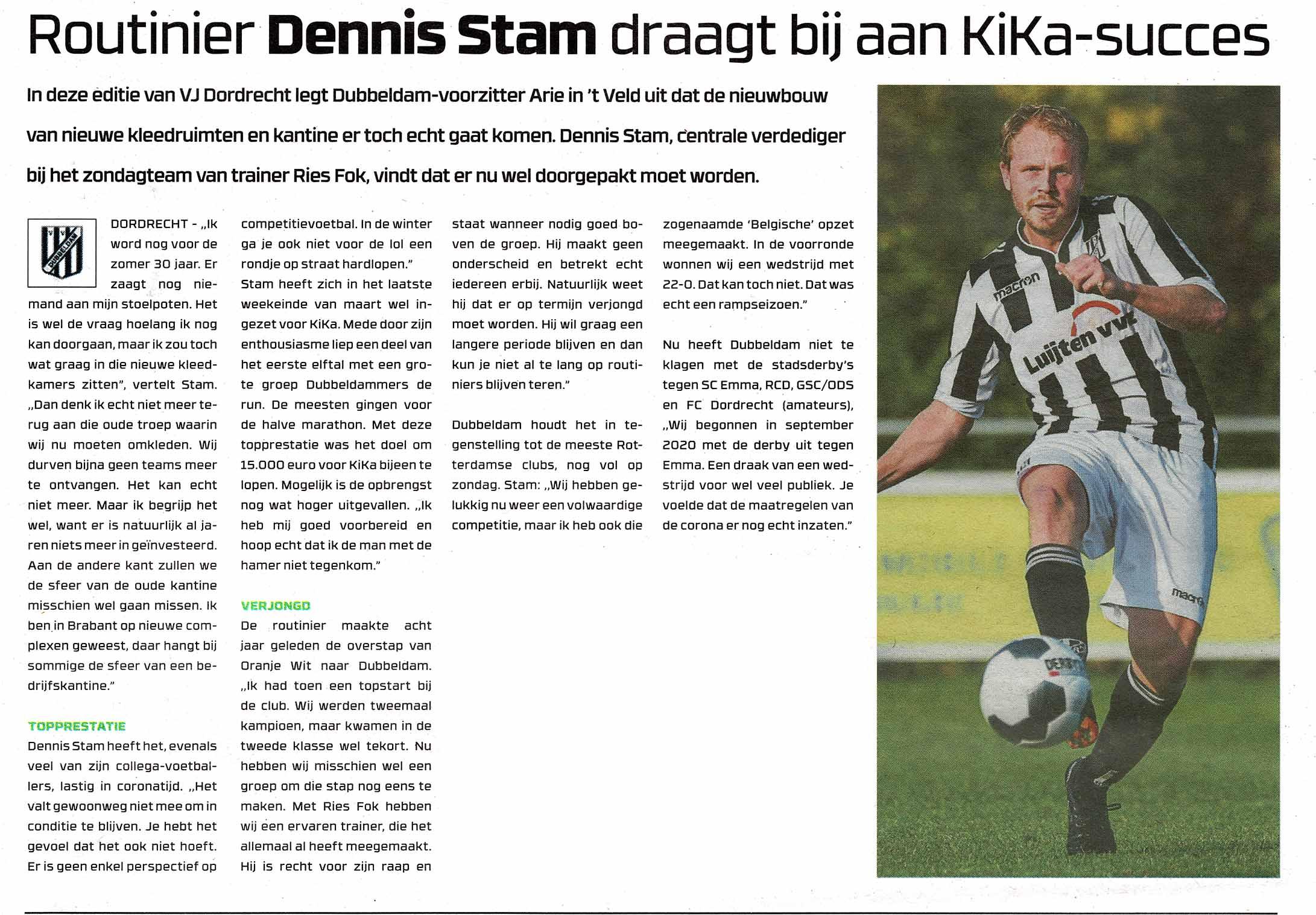 Dennis Stam in voetbaljournaal over KiKa